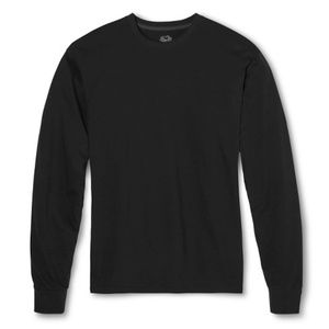 Fruit of the Loom Men's Long Sleeve T-Shirt - Blac